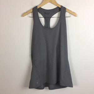Athleta Gray Racerback Tank Top